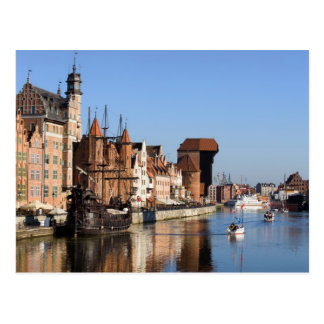 Old Town of Gdansk in Poland Post Card