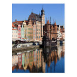 Old Town of Gdansk in Poland Postcard