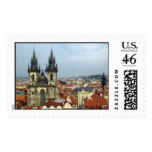 Old Town Prague Stamp