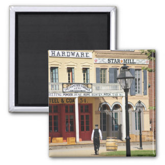 Old Town Sacramento 2 Inch Square Magnet