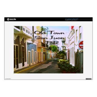 "Old Town San Juan Puerto Rico 15"" Laptop Decal"