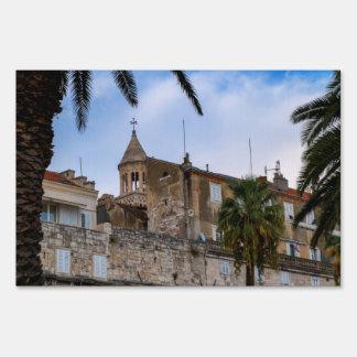 Old town, Split, Croatia Lawn Sign