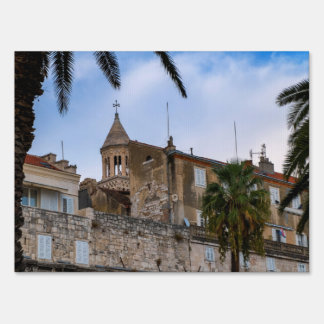 Old town, Split, Croatia Sign