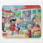 Old Town Square full of Sweets Mouse Pad