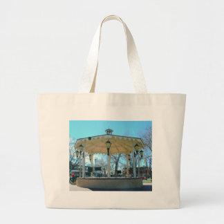 Old Town Square Gazebo Large Tote Bag