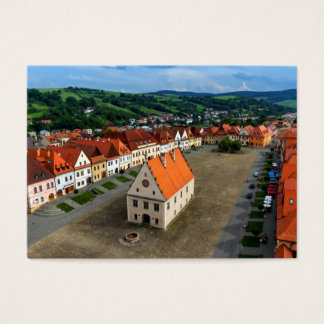 Old town square in Bardejov, Slovakia Business Card