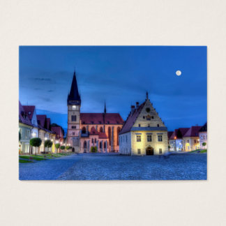Old town square in Bardejov, Slovakia,HDR Business Card