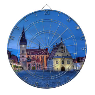 Old town square in Bardejov, Slovakia,HDR Dartboard