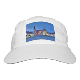 Old town square in Bardejov, Slovakia,HDR Headsweats Hat
