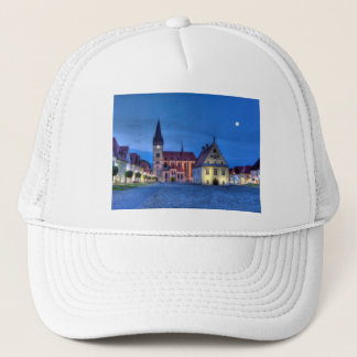 Old town square in Bardejov, Slovakia,HDR Trucker Hat