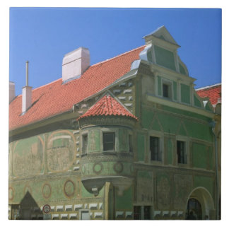 Old town square surrounded by 16th-century 2 ceramic tile
