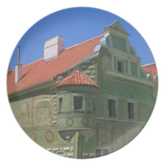 Old town square surrounded by 16th-century 2 melamine plate