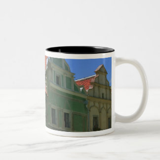 Old town square surrounded by 16th-century 2 Two-Tone coffee mug