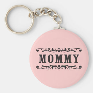 Old Towne Mommy Basic Round Button Keychain