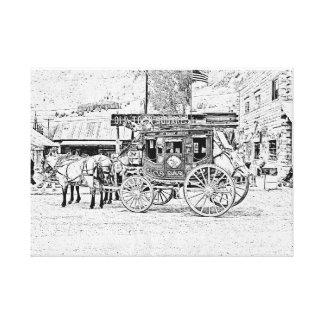 Old Towne Square Stage Coach Canvas Print