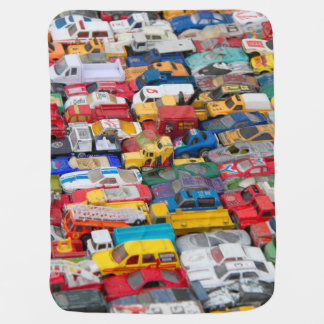 Old Toy Cars Baby Blanket