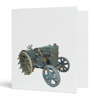 old tractor 3 ring binder