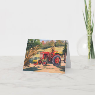 Old Tractor and New Bounty Note Card