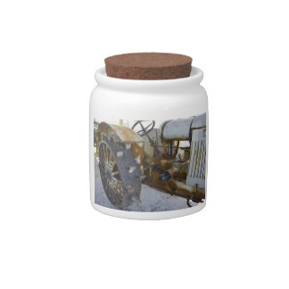 Old Tractor Candy Jar