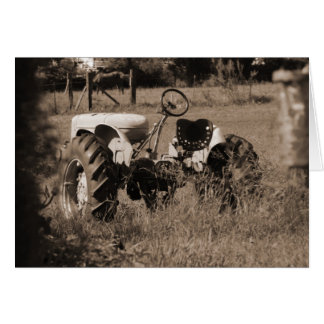 Old Tractor Card