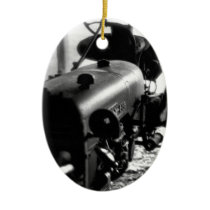 Old Tractor Ceramic Ornament