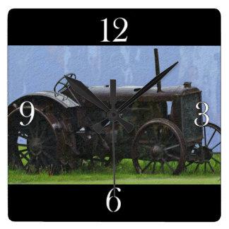 Old Tractor Farm Vehicle Art Clock
