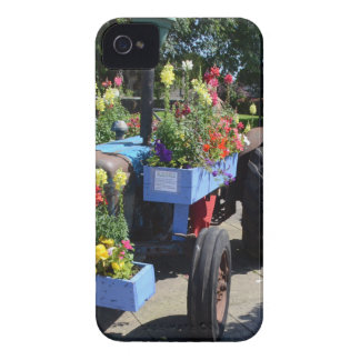 Old Tractor Floral Display iPhone 4 Case
