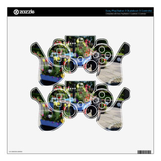 Old Tractor Floral Display PS3 Controller Skins