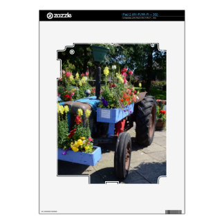 Old Tractor Floral Display Skin For iPad 2