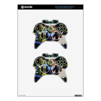 Old Tractor Floral Display Xbox 360 Controller Decal