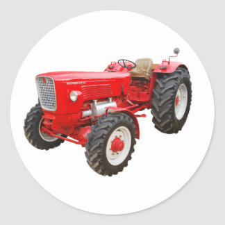 Old tractor Güldner G 75 AS Classic Round Sticker