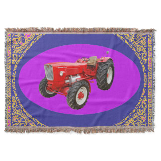Old tractor Güldner Throw