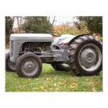 """Old tractor in fall 4.25"""" x 5.5"""" invitation card"""