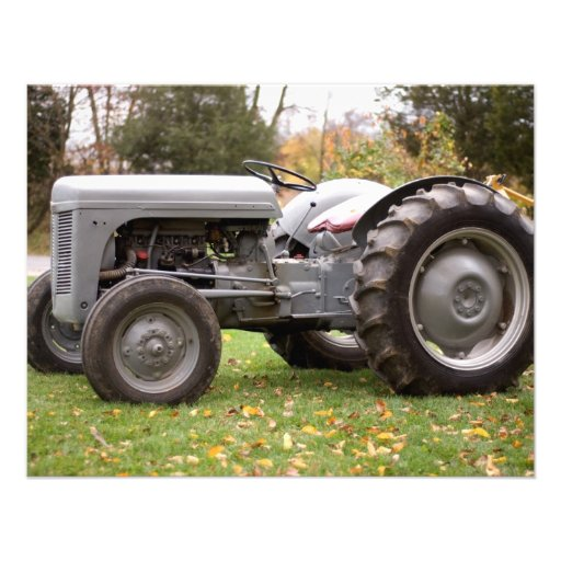 Old tractor in fall custom invite