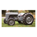 Old tractor in fall photo cards