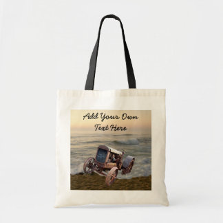 OLD TRACTOR IN SURF-BAG TOTE BAG