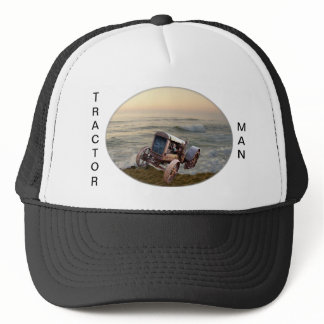 OLD TRACTOR IN SURF-HAT TRUCKER HAT