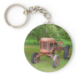 Old Tractor in the Orchard Keychain