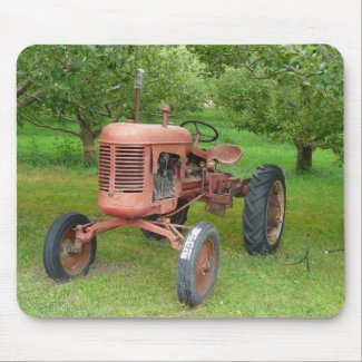 Old Tractor in the Orchard mousepad