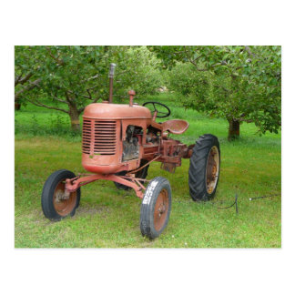 Old Tractor in the Orchard Postcard
