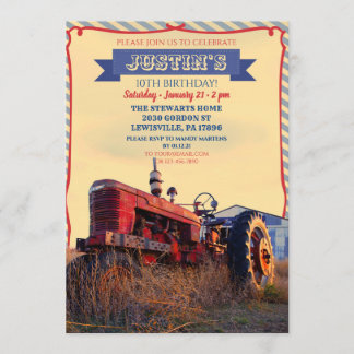 Old Tractor Invitation