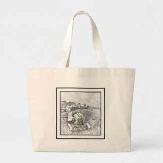 Old Tractor Large Tote Bag