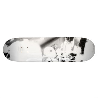 Old Tractor - negative Skateboard Deck