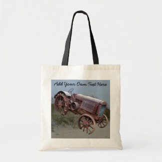 OLD TRACTOR ON DUNE-BAG TOTE BAG