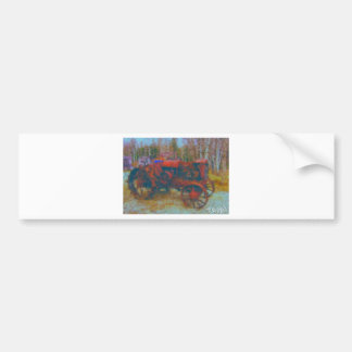 old tractor painting by hart bumper sticker