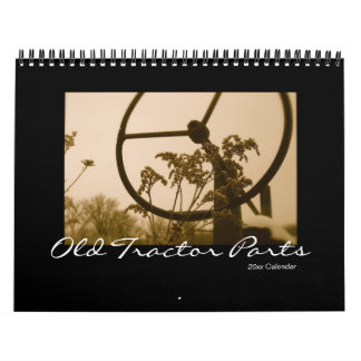 Old Tractor Parts Calendar: Customize Year Calendar