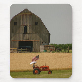 Old Tractor Patriotic Mousepad: Allis Chalmers Mouse Pad