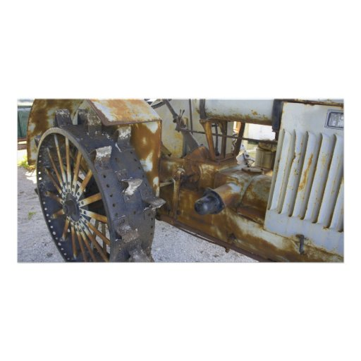 Old Tractor Picture Card
