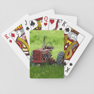 Old Tractor Playing Cards