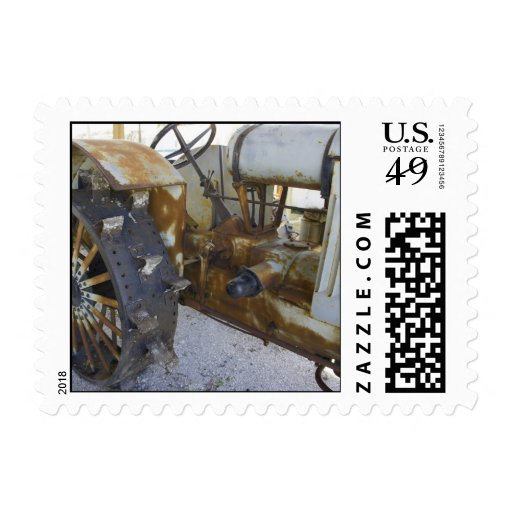 Old Tractor Postage Stamp